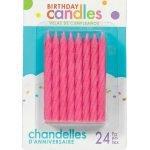 Candles 24pk Pink Spiral Glitter Birthday Candles 170432